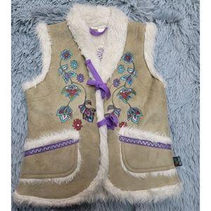 Me too vest girl Danish design size 4Y